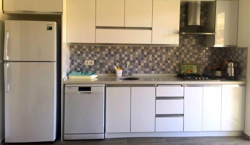 datça parla kiralık ev mutfak