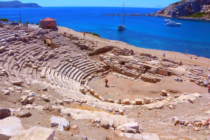 datça knidos antik kenti tiyatrosu